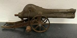 Rare Antique 1907 Cast Iron Campbells Rapid Fire 16in Marble Cannon