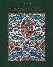 CATALOGUE VENTE GABUS  ISLAMIC ART ISLAMIQUE & INDIAN MINIATURES INDIENNES 1990