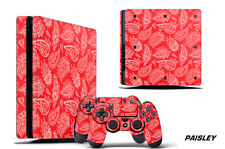 Skin Decal Wrap For PS4 Slim Playstation 4 SLIM Console + Controller Stickers PS