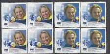 Australia 2002 Olympic Gold Medal Winners  Block of 4 Stamps