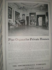 Orchestrelle Pipe organs for the home advert 1906 ref Y3