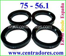 4 CENTRADORES DE LLANTA 75-56.1 BAGUES HONDA MINI COOPER ONE ROVER PAR OZ RACING
