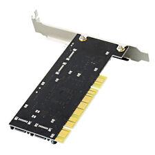 HOT!Upgrade PCI to SATA/PCI-E 4 Port 3114 Raid Controller Card Black support 3T