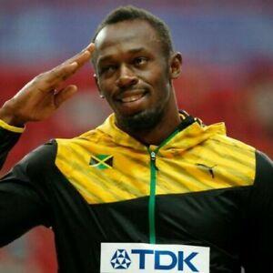 Puma Men's Jamaica Pro Elite Issue 2013 Wind Hooded Jacket Usain Bolt New Size L
