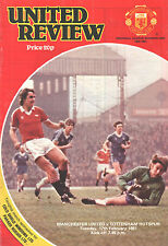 1980/81 Manchester United v Tottenham Hotspur, Division 1, PERFECT CONDITION