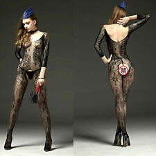 Sexy Fishnet Open Crotch Body Stocking Bodysuit Nightwear Lingerie-Women Ne Q0X1