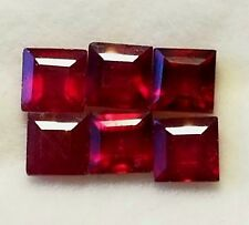 Stunning 1 Per Bid/Buy 5-6mm Square Natural Mozambique Ruby faceted gemstone