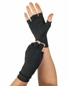 Tommie Copper Half Finger Support Compression Gloves Hand Arthritis Pain Relief