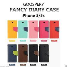 iPhone 5 5s SE Genuine MERCURY Goospery Yellow Flip Case Wallet Cover Post