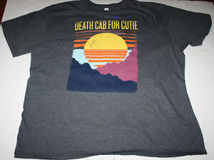 Death Cab for Cutie, Sunset Graphic Heather Gray T-Shirt, Cotton/Poly Blend, XXL