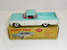 "Dinky 449 Chevrolet El Camino Pick Up Truck Boxed ""original"""