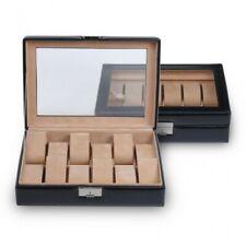 Sacher watch box for 12 watches, glass window, genuine leather, 2119.010443