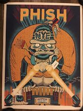 PHISH POSTER NYE 2017 2018 YOUR CINEMA MSG NY LE 708/1000 NEW YEARS EVE RUN