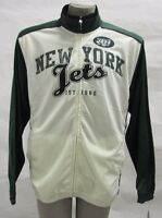 New York Jets Men's XL Full-Zip Embroidered Track Jacket NFL Green w/ White