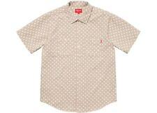 fab07b30ed Supreme Polka Dot Denim Shirt Khaki Size Medium SS18 + Bogo Stickers