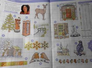 Stickvorlage,Point de Croix,Lisa Reakes,31 Motive,Winterwonderland,Fasan,Eule...