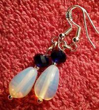 Handmade Ruby Drop/Dangle Sterling Silver Fine Earrings
