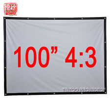 "100""4:3 Matte White Hanging Projection Screen Material for HD LED DLP Projectors"
