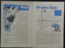 Ice Skate Sail 1940 Skate Sailing Assoc. How-To build Plans