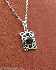 Genuine whitby jet and silver pendant  jp098 hand made in whitby