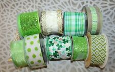 Lot of 10 St. Patrick's Day Ribbon - New & Partial - Nice