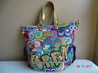 COACH Poppy tote 15433 Bag Purse multicolor two COACH TAG INCLUDED