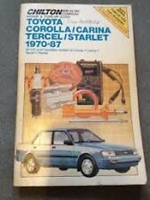 TOYOTA Corolla Service Manual 1987 1986 1985 1984 1983 1982 1981 1980 1978 1987