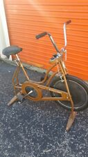 Vintage SCHWINN EXERCISER CHICAGO Exercise Bike Upright Bicycle gold