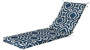Pillow Perfect Outdoor/Indoor Carmody Navy Chaise Lounge Cushion 72.5 in. L X...