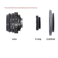 FUJIAN 35mm f/1.6 C Mount CCTV f1.6 lens for Canon EOS M EF-M Mirrorless Camera