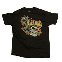 Vintage Deadstock Just Brass 3D Emblem T-Shirt XL Vietnam War Skull