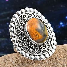 Jasper (8.410 Cts) Ring in Sterling F-30 Nib $189.99 Size 6 Genuine Bumble Bee