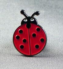 Metal Enamel Pin Badge Brooch Ladybird Bug Lady Bird