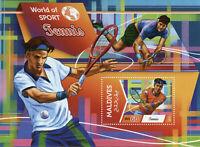 Maldives Sports Stamps 2015 MNH Tennis World of Sport 1v S/S