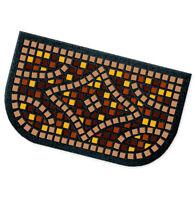 Zerbino gomma mosaico semiluna 40x70 antiscivolo tappeto esterno ingresso casa