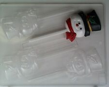 Chocolate Mould - Christmas - Snowman Face with Top Hat on Stick