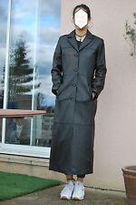OAKWOOD Manteau long en cuir d'agneau noir. Coupe classique. T. M Jamais porté!