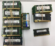 Lot of (205) 2GB PC2 DDR2 Sodimm Mixed Brands PC2-5300 PC2-6400 Laptop Ram