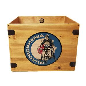 Quadrophenia Record Box Vintage Album Crate 12 Inch LP Vinyl Mod Scooter