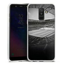 Samsung Galaxy A6 Plus Silikon Hülle Case - Stadion FC Bayern - Black White