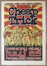 2001 Cheap Trick - Portland Silkscreen Concert Poster s/n by Mike King & Houston