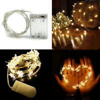 LED Star Lights Battery Operated Fairy String Xmas Party Lamps Decor Warm White
