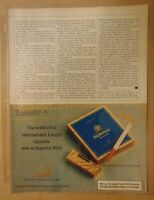 Vintage 1980's DUNHILL CIGARETTE British Brand 1984 Original Print Advertising