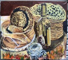 STILL LIFE  by Ruth Freeman ACRYLIC ON UNSTRETCHED CANVAS 30  X 34