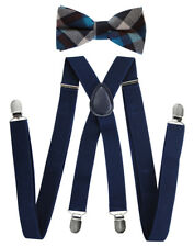 Axy Men's Braces With Bow Tie Set -schleife Already Bound, 4 Strong Clips