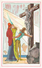 1940s Vintage Salvador Dali Jesus Crucifixion Christian Surreal Art Print