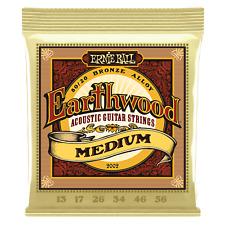 Genuine Ernie Ball Earthwood Medium 80/20 Bronze Acoustic Guitar Strings P02002