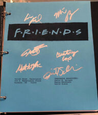 "FRIENDS ""The One With The Baby On The Bus"" ORIGINAL studio script SIGNED X 6 COA"
