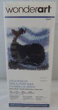 "Big Blue Whale Latch Hook Rug Kit Wonderart Spinrite Wall Hanging 12""X12"""