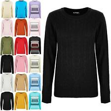 Womens Ladies Sweater Chunky Cable Knitted Long Sleeve Jumper Winter Warm Top